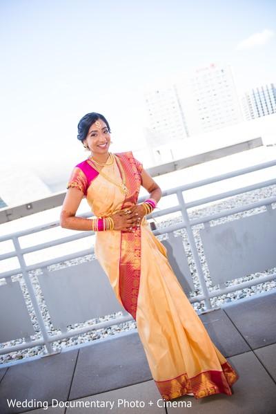 Enchanting outdoor Indian  bride photo shoot.
