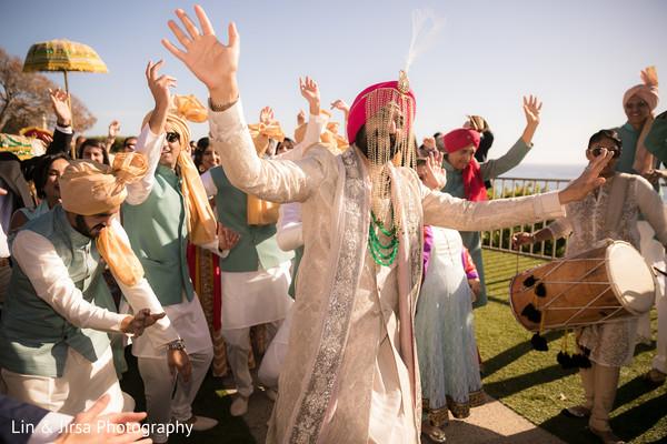 indian pre-wedding celebration,baraat procession,baraat,indian groom