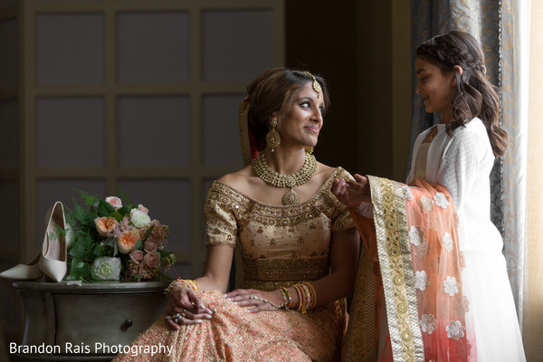 Charming maharani getting ready for her big day.