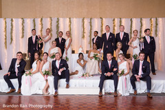 indian bride and groom,indian wedding reception fashion,indian bridesmaids and groomsmen