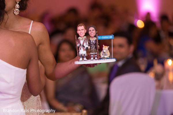 Personalized dolls gift for Indian bride and groom capture.