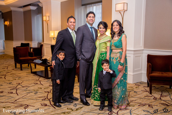 See this gorgeous Indian couple with family members capture.