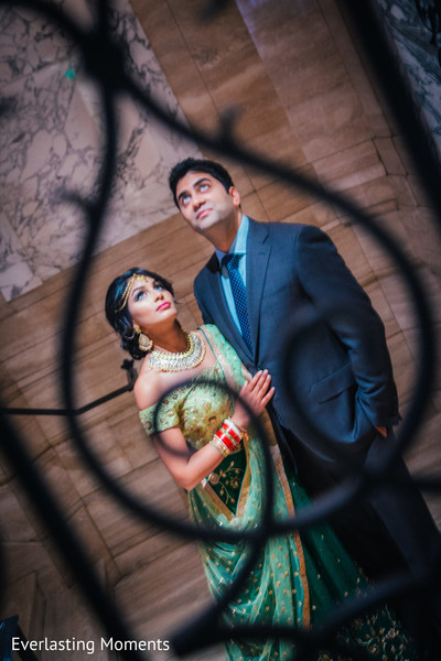 Marvelous capture of Indian bride and groom.