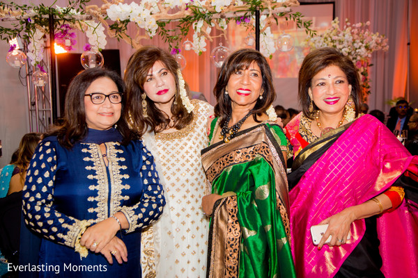Beautiful Guests at the Indian wedding reception portrait.