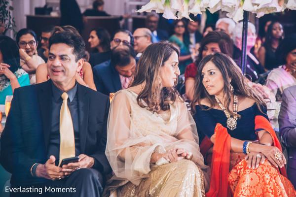 Indian wedding guests portrait.