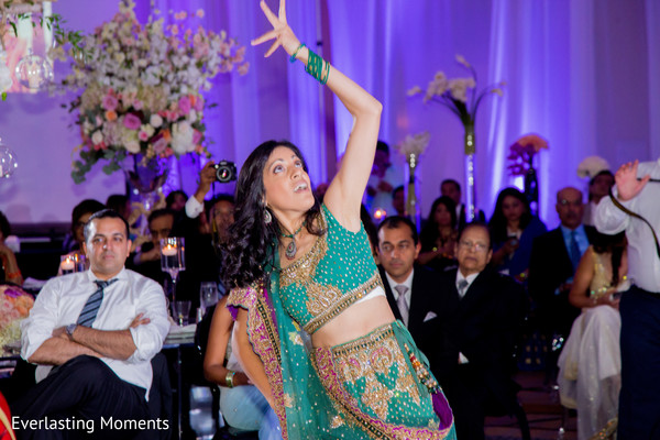 Indian wedding bridesmaid dance capture.