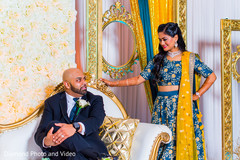 Indian bride and groom's reception photo shoot
