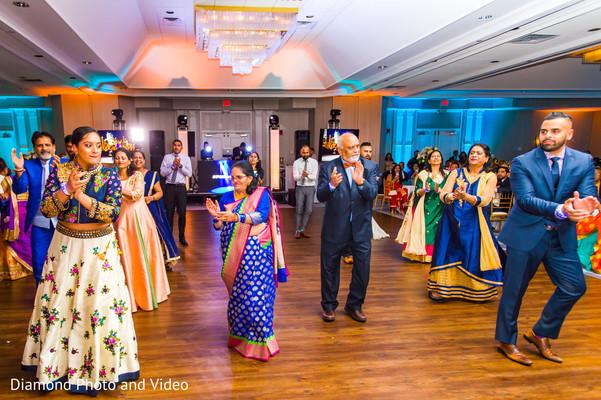 Fantastic indian wedding reception dance performance