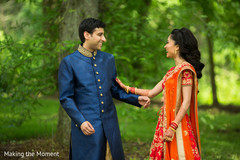 Lovely Indian couple on their pre-wedding fashion capture.