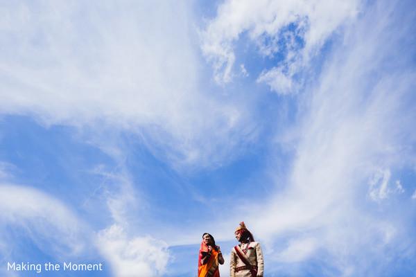 Stunning Indian bride and groom ski capture.