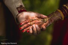 Marvelous Indian bride's mehndi art closeup capture.
