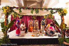 indian bride and groom,indian wedding fashion,indian wedding ceremony mandap,indian wedding flower decor