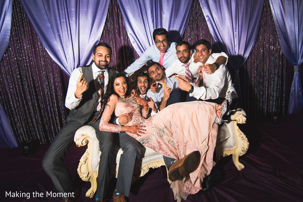 indian wedding reception fashion,indian bride and groom,indian groomsmen