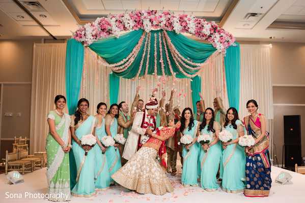 indian bride and groom,indian wedding ceremony,indian wedding fashion,indian bridesmaids and groomsmen