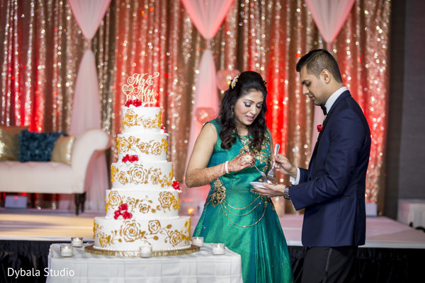 Lovely cake cutting scene