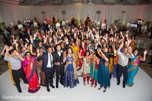 Marvelous Indian wedding reception celebration capture.