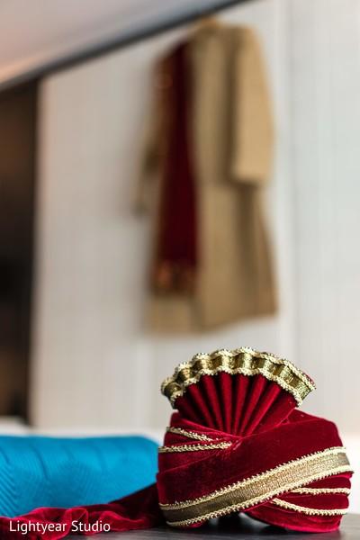 Majestic Indian groom's turban.