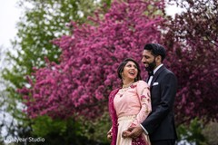 Cute indian couple's photo session