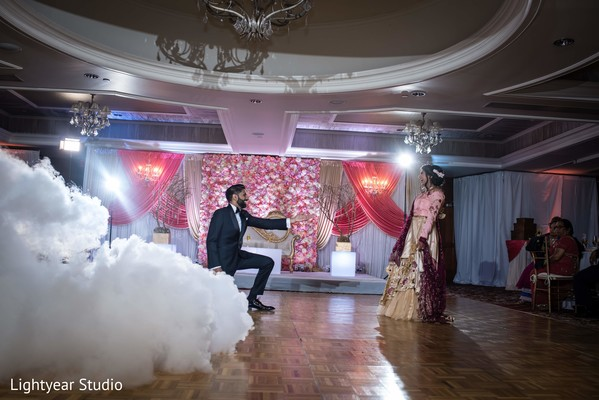 Indian newlyweds having their first dance