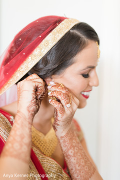 Marvelous capture of Indian bride getting ready.
