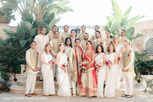 indian bride and groom,indian bridesmaids and groomsmen,indian wedding fashion