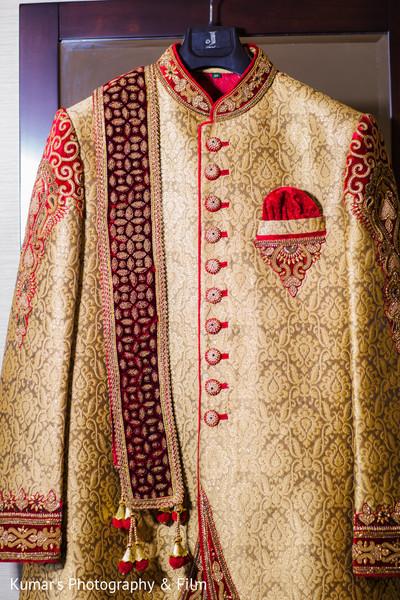 Elegant indian groom's sherwani