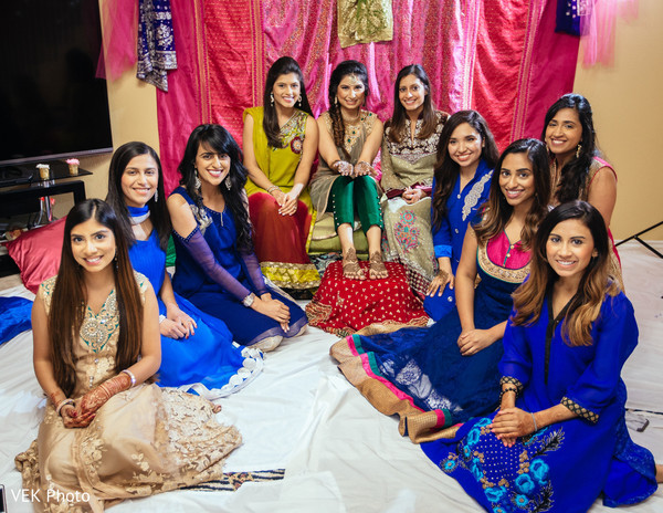 Lovely ladies at mehndi party