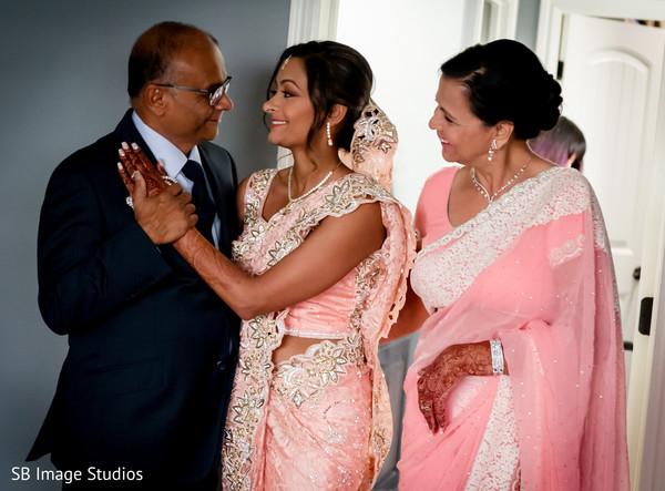 Indian bride tender moment