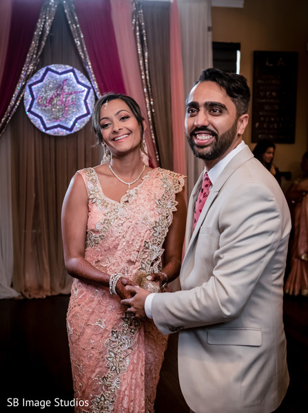 Adorable indian couple smiling shot