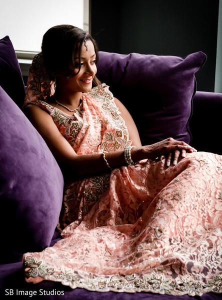 Gorgeous indian bride posing
