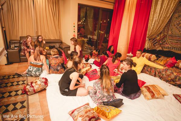 Ladies enjoying mehndi party