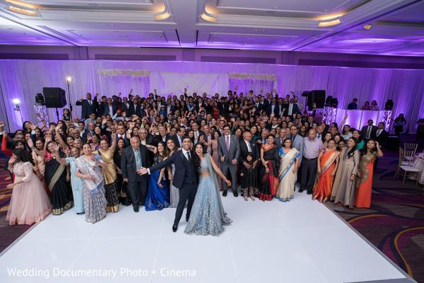 Stunning Indian  wedding reception portrait.