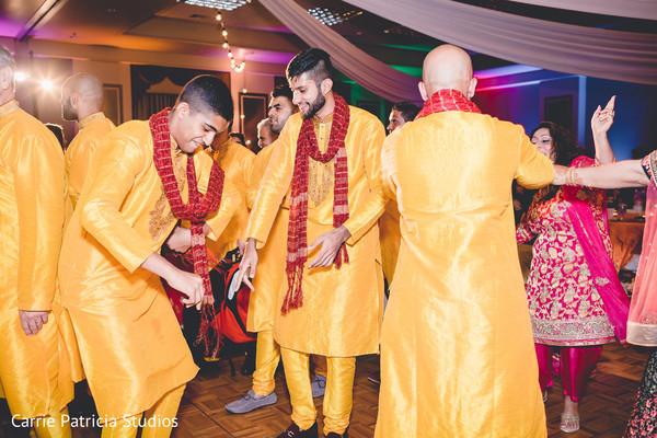 Indian pre-wedding sangeet dance.