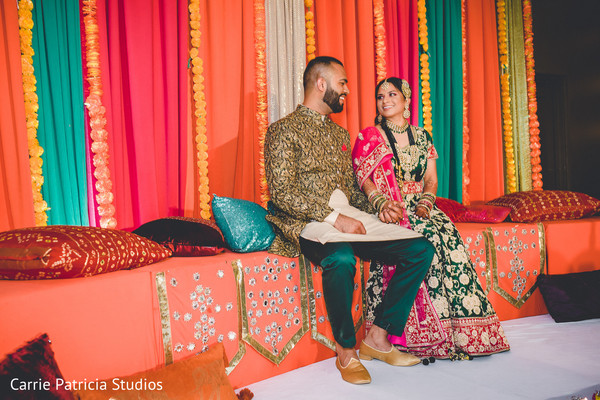 indian bride and groom,indian pre-wedding fashion,indian mandap