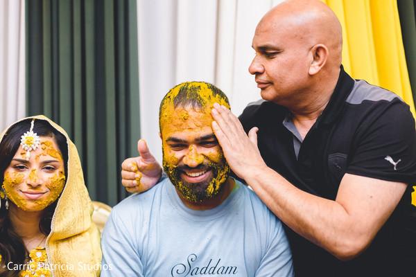 haldi ceremony,haldi powder,pre-wedding fashion,indian bride and groom