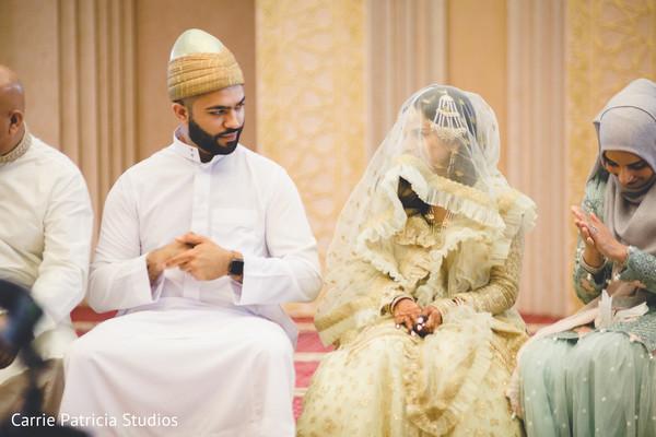 indian bride and groom,indian wedding fashion,indian wedding ceremony,pakistani - muslims wedding