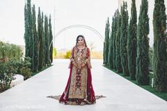 Stunning Indian bride on her wedding attire.
