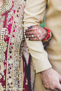 Indian bride's engagement closeup capture.