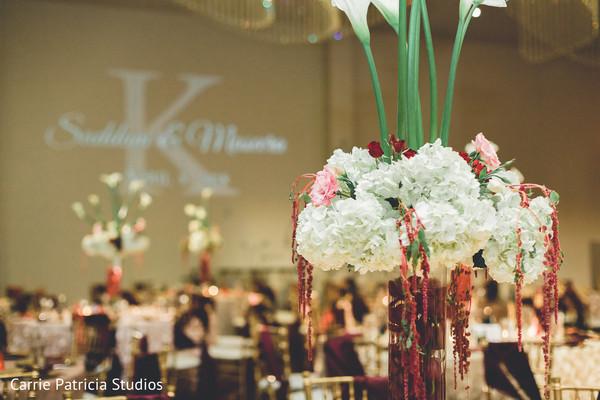 Marvelous Indian wedding reception flower decor.