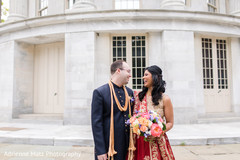 indian wedding gallery,outdoor photography,indian bride and groom,bridal bouquet