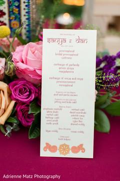 Creative indian wedding program