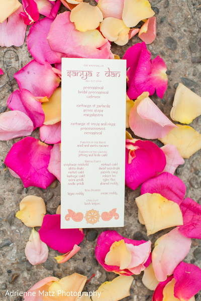 Beautiful indian wedding program capture