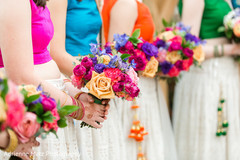 indian bridesmaids fashion,bridal bouquet