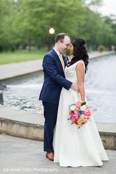 bridal bouquet,white wedding dress,fusion wedding