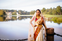 Sweet Indian bride ready for her wedding ceremony.