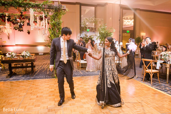 Lovely Indian bride and groom's dance.