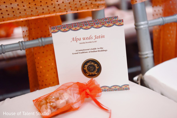 Indian wedding favor and wedding program