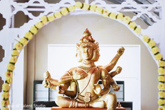 Indian wedding ceremony statue decor