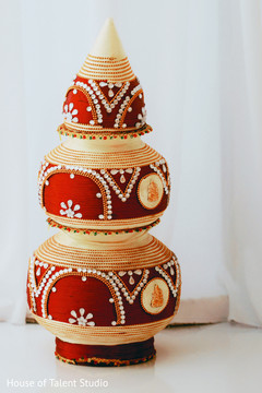 Decorated coconut for wedding ceremony