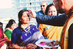 Traditional indian pre-wedding ritual